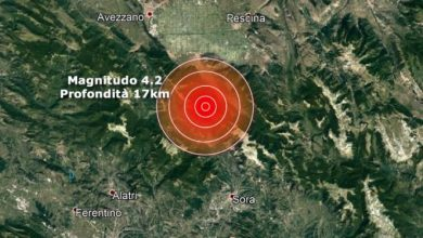Photo of Terremoto in provincia dell'Aquila, scossa avvertita anche a Roma e i Castelli Romani
